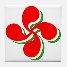 3 Color Lauburu Tile Coaster