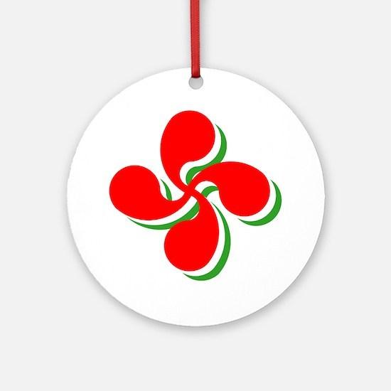 3 Color Lauburu Ornament (Round)