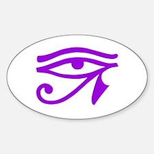 Purple Eye Oval Decal
