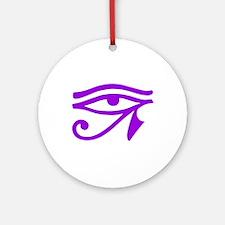 Purple Eye Ornament (Round)