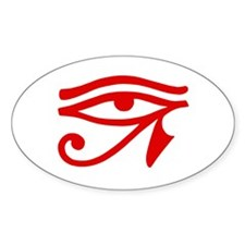 Red Eye Oval Decal