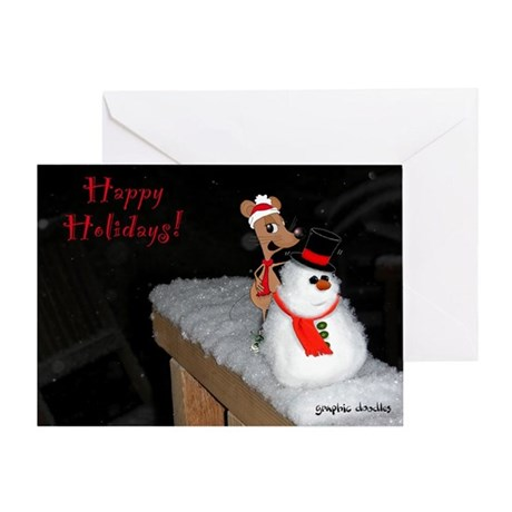 Holiday Mouse Greeting Card