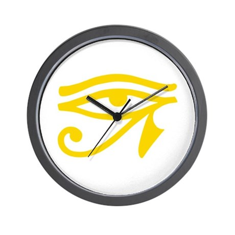 Yellow Eye Wall Clock