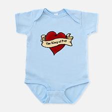 King of Pop Heart Tattoo Infant Bodysuit