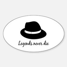 Legends Never Die Oval Decal