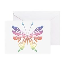 Butterfly Tat Rainbow (05) Greeting Card