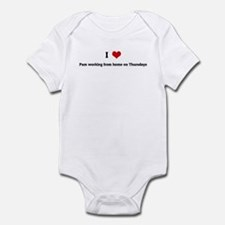 I Love Pam working from home Infant Bodysuit
