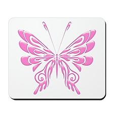 Butterfly Tat Pink (05) Mousepad