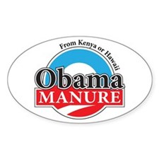 Obama Manure Oval Decal