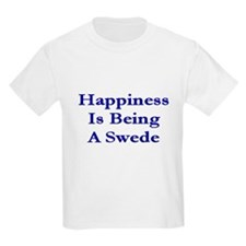 Happiness Is Being A Swede Kids T-Shirt