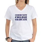 community college graduate Women's V-Neck T-Shirt