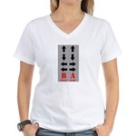 the gamer Women's V-Neck T-Shirt