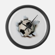 Soccer Burster Large Wall Clock