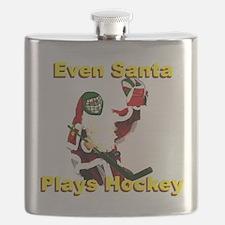 Even Santa Plays Hockey Flask