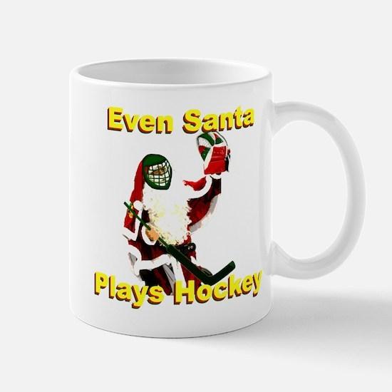 Even Santa Plays Hockey Mug