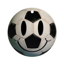 Soccer Smiley Ornament (Round)