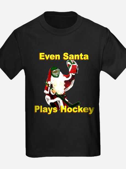 Even Santa Plays Hockey T