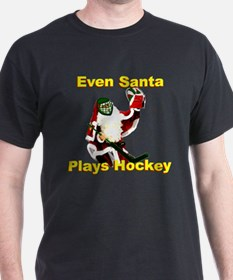 Even Santa Plays Hockey T-Shirt