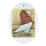 Red Komorner Tumbler Oval Ornament