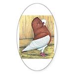 Red Komorner Tumbler Oval Sticker