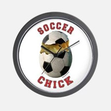 Soccer Chick 2 Wall Clock