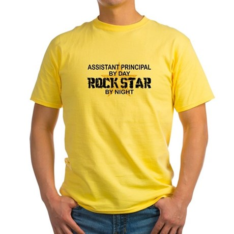 Asst Principal RockStar by Night Yellow T-Shirt