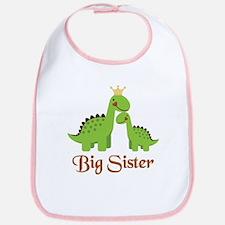 Big Sister Dino Bib