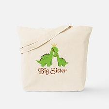 Big Sister Dino Tote Bag