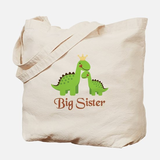 Big Sister Dino Tote Bag