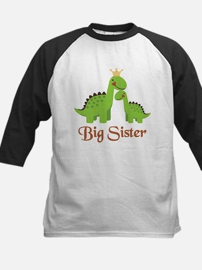 Big Sister Dino Kids Baseball Jersey