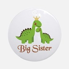 Big Sister Dino Ornament (Round)