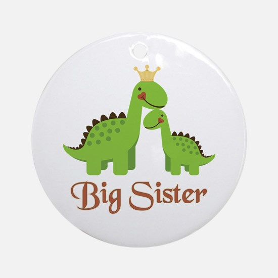 Big Sister Dino Ornament (Round)