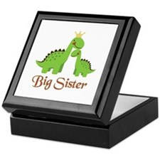 Big Sister Dino Keepsake Box