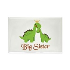 Big Sister Dino Rectangle Magnet