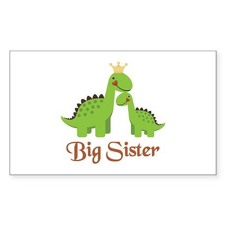 Big Sister Dino Rectangle Sticker