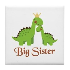 Big Sister Dino Tile Coaster