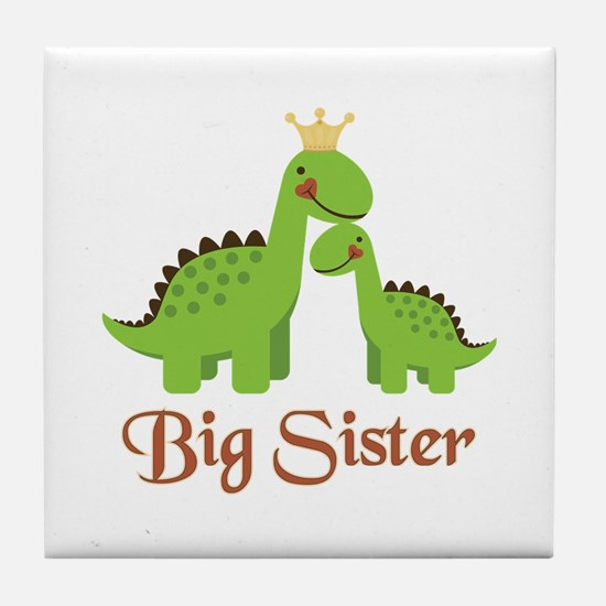 Big Sister Dino Tile Coaster