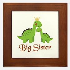 Big Sister Dino Framed Tile