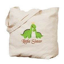 Little Sister Dino Tote Bag