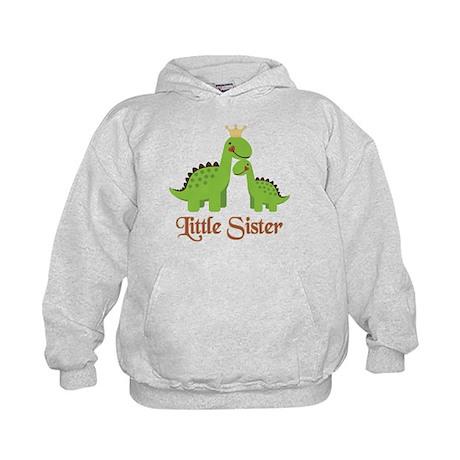 Little Sister Dino Kids Hoodie