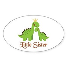 Little Sister Dino Oval Decal