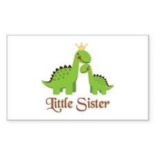 Little Sister Dino Rectangle Decal