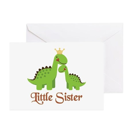 Little Sister Dino Greeting Cards (Pk of 10)