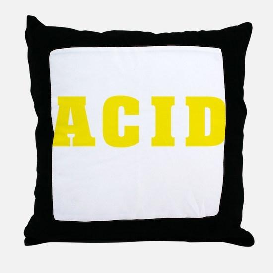 YELLOW ACID2 Throw Pillow