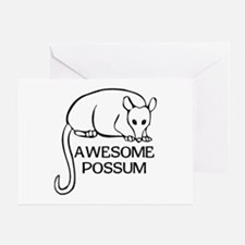 Awesome Possum Greeting Card