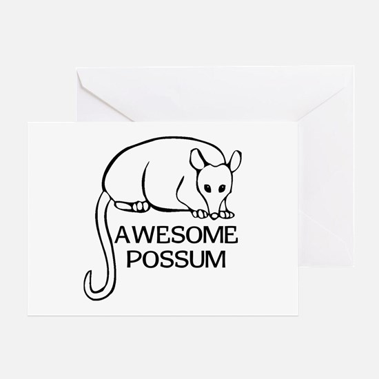 Awesome Possum Greeting Card