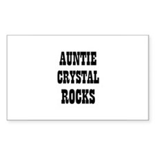 AUNTIE CRYSTAL ROCKS Rectangle Decal
