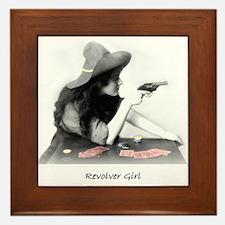 Revolver Girl Framed Tile