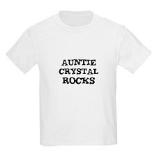 AUNTIE CRYSTAL ROCKS Kids T-Shirt