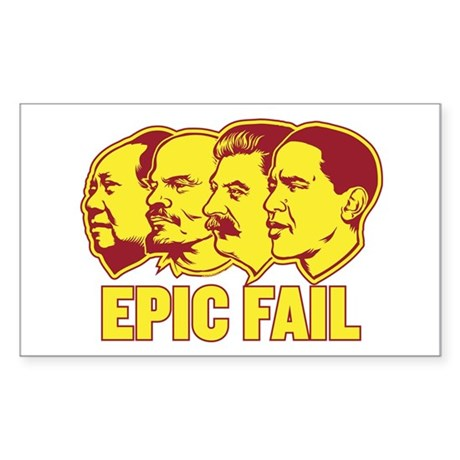 Epic Fail Obama Rectangle Sticker